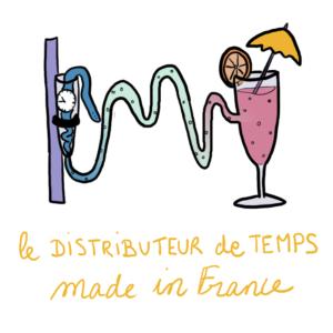 cadeau utile et éco responsable pour la fête des mères badass : le distributeur de temps illustré par Camille Hardouin