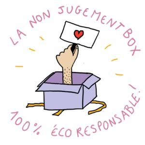la non jugement box, le cadeau de fête des mères idéal  illustrée par Camille Hardouin