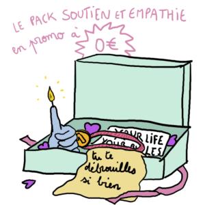 le pack soutien et empathie illustré par camille hardouin, la cadeau idéal de fête des mères