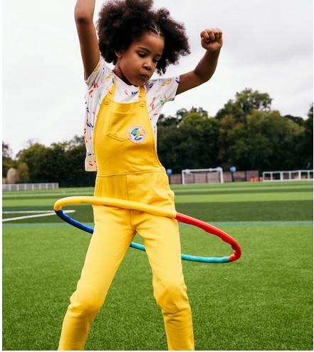 salopette jaune enfant unisexe perpette